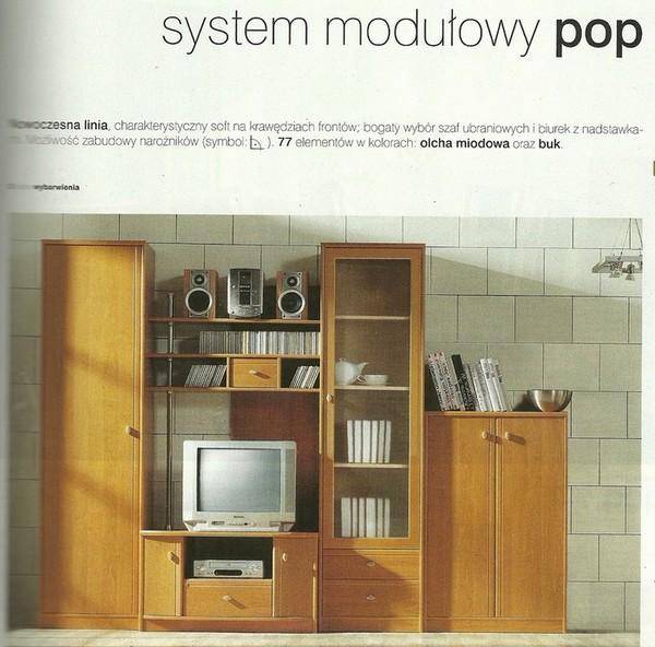 """Meble Systemu Modułowego Typu """"pop"""" Kolor Olcha Miodowa"""